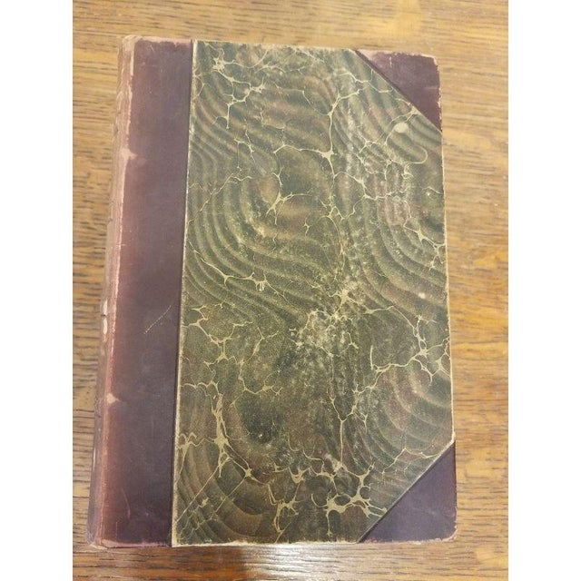 Mid 19th Century 2 Matching Leather Spine Books For Sale - Image 5 of 7