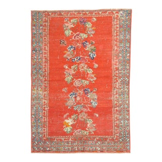 Turkish Oushak Rug Dated 1878, 3'6'' X 4'9'' For Sale