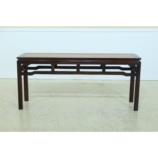 Wood Drexel Chinese Oriental Style Modern Design Sofa Table For Sale - Image 7 of 7