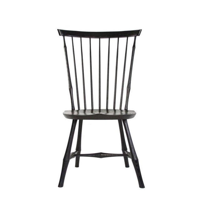 English O & G Studio Windsor Dining Chair in Ebony, 25+ Available For Sale - Image 3 of 10