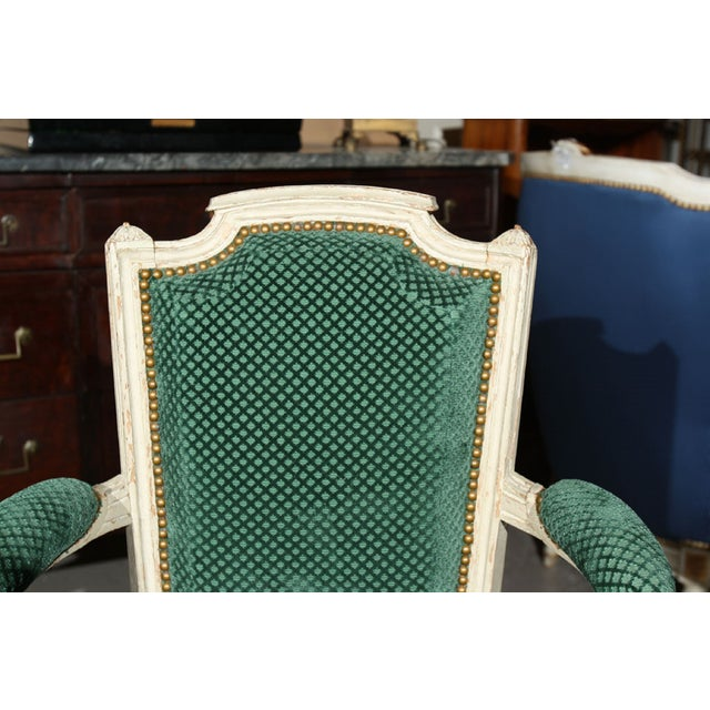 French Louis XVI Style Armchairs - A Pair - Image 6 of 6