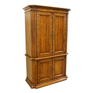 Stanley Furniture Italian Neoclassical Tuscan Style Clothing Armoire For Sale