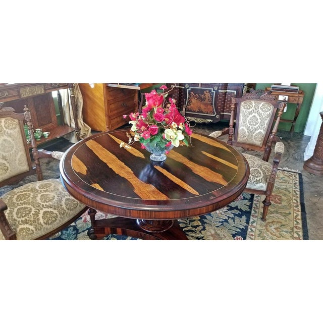Early 19th Century 19c British Regency Tilt Top Center Table - Quality For Sale - Image 5 of 10