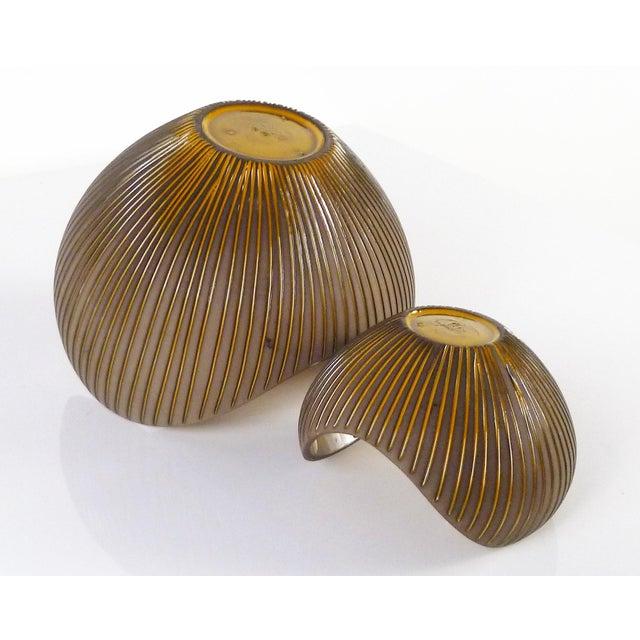 Clay Hjordis Oldfors, Set of 3 Modern Earthenware Kokos / Coconuts Vessels From Upsala-Ekeby, Sweden 1954 For Sale - Image 7 of 13