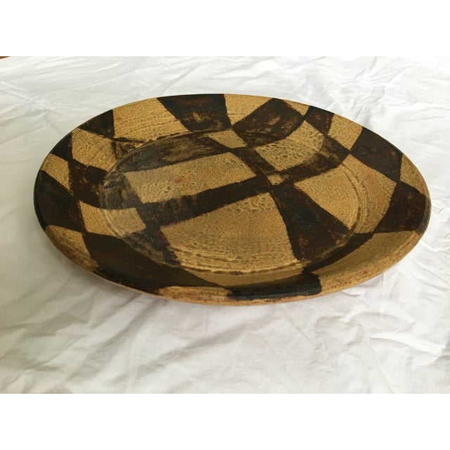 Mid-Century Modern Mid Century Modern Japanese Stoneware Serving Piece/ Platter, Made in Japan For Sale - Image 3 of 7