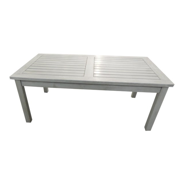 Outdoor Safavieh Weathered Finish Coffee Table For Sale