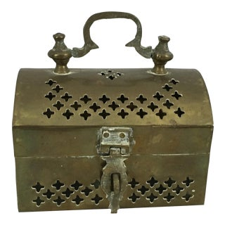 Vintage Chest-Shaped Cricket Box