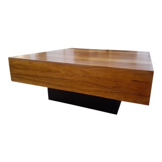 Mid-Century Modern Dyrlund of Denmark Danish Exotic Wood Parquetry Top Square Coffee Table For Sale