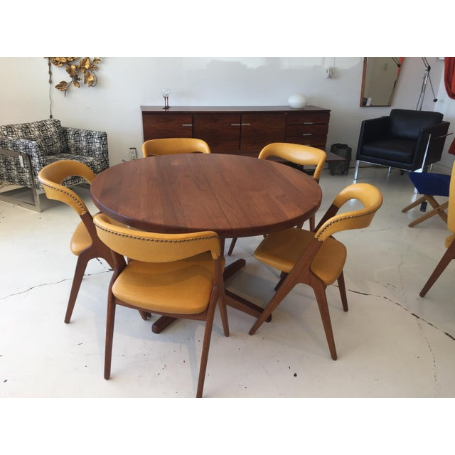 Mid-Century Modern Teak Dining Table/Chairs Set For Sale - Image 11 of 11