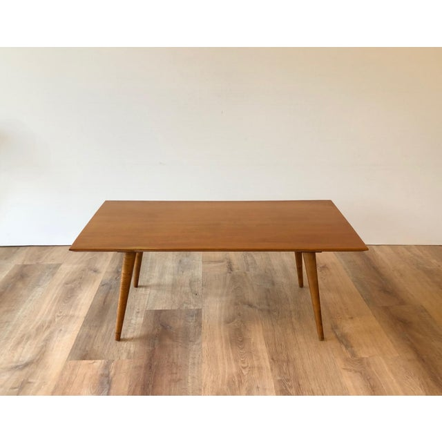 1950s Compact Paul McCobb Solid Maple Coffee Table For Sale In Seattle - Image 6 of 7