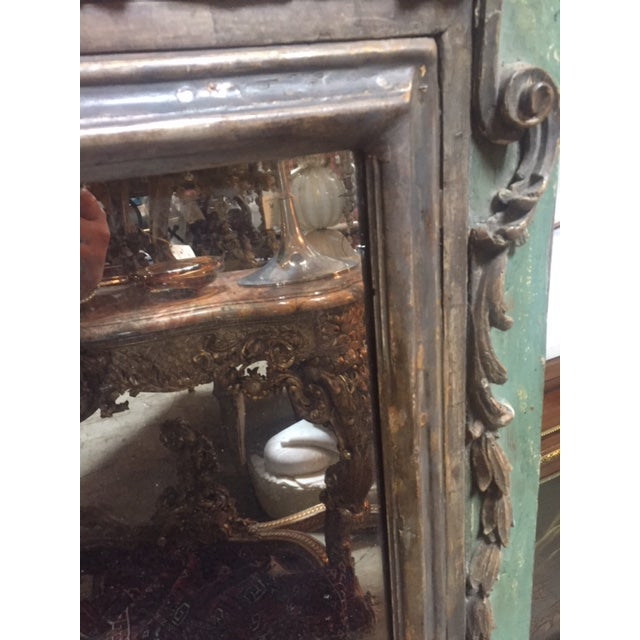 Late 18th Century Italian Green & Gold Mirror For Sale - Image 4 of 12
