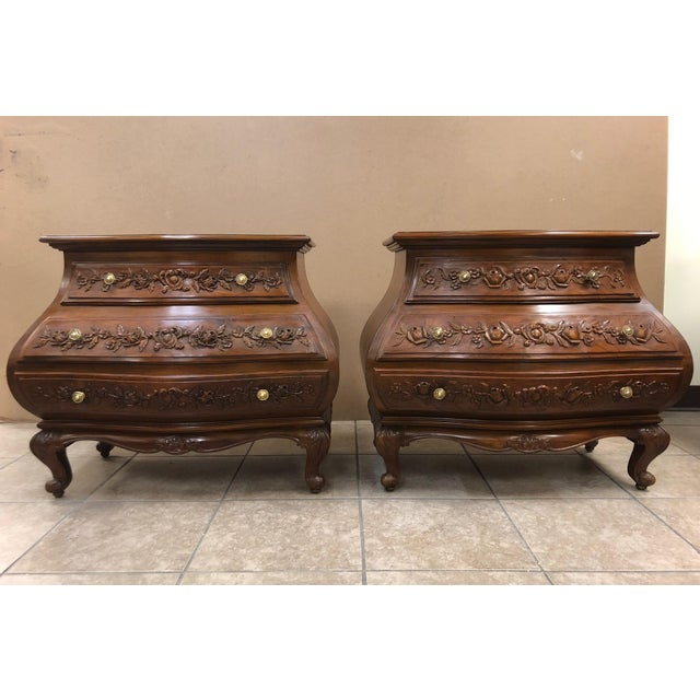 Walnut Pair of Spanish Bombay Chests For Sale - Image 7 of 7