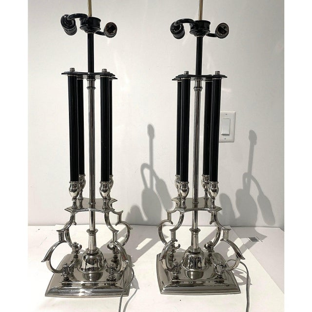 Mid-Century Modern Mid-Century Modern Tommi Parzinger for Stiffel Table Lamps - a Pair For Sale - Image 3 of 12