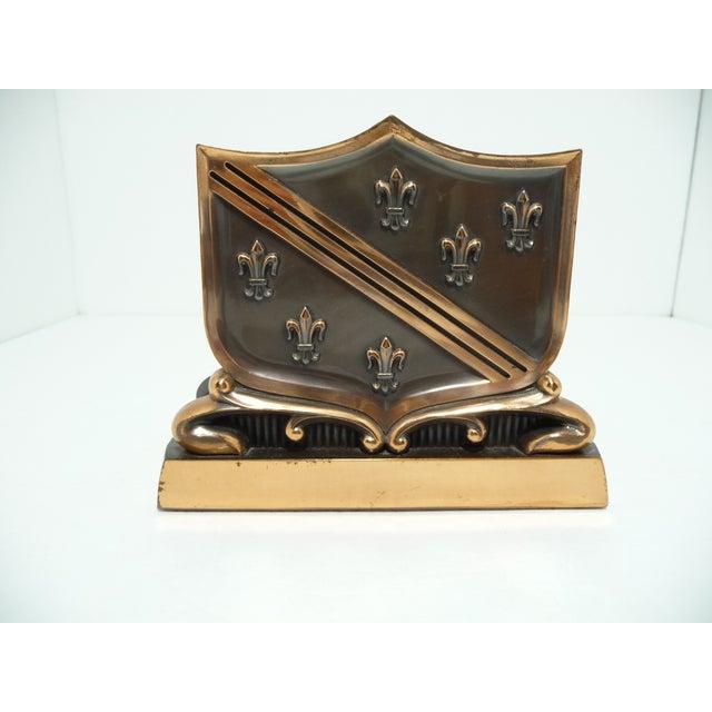 French Fleur De Lis Copper Finish Letter Holder - Image 5 of 7