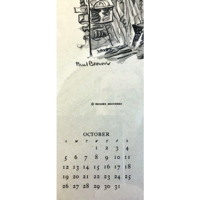 Americana 1947 Paul Desmond Brown for Brooks Brothers Calendar Print For Sale - Image 3 of 9