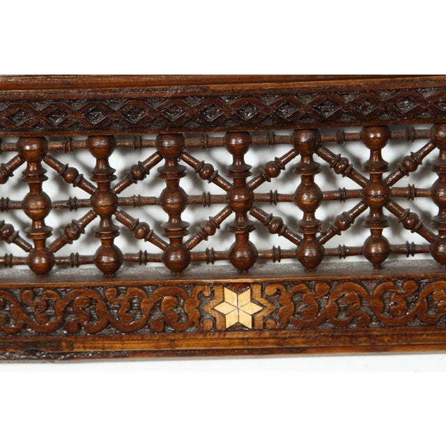 Brown Pair of Syrian Damascus Mirrors Inlaid With Mother-Of-Pearl For Sale - Image 8 of 10