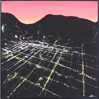 """Beachwood Sunset Aerial"" Original Painting by Pete Kasprzak For Sale"
