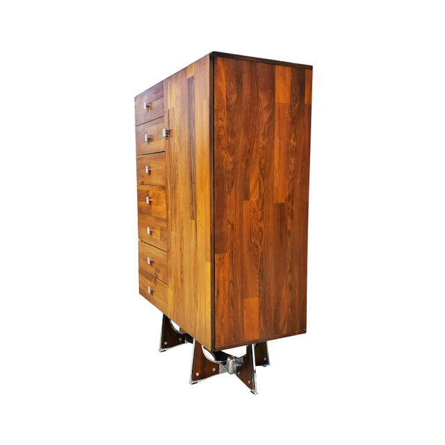Mid-Century Modern A Mid-Century Modern - Brutalist - Space Age - Wardrobe - Armoire by Henri Valliere For Sale - Image 3 of 10