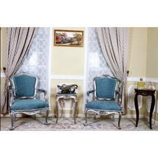 Louis XV Style Blue Accent Chair Preview