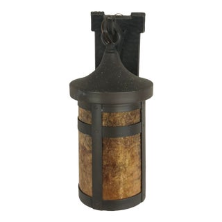 Rejuvenation Brass Lantern Wall Sconce For Sale