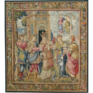 Authentic French Needlework Tapestry 8'6'' X 7'2'' For Sale