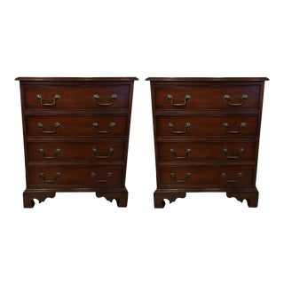 Leighton Hall Mahogany Nightstands - A Pair For Sale
