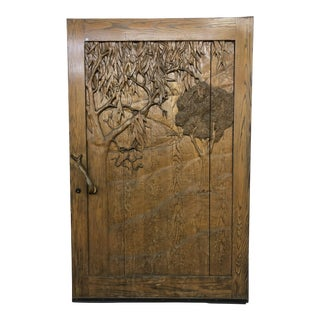 David Frisk Carved Olive Tree Door For Sale