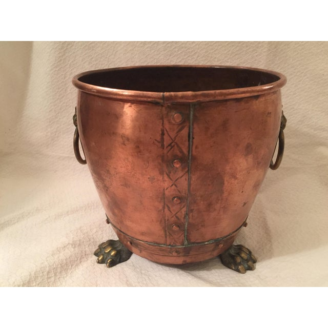 English Copper Cachepot - Image 8 of 8
