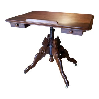 Clowes & Gates Victorian Walnut Adjustable Table For Sale