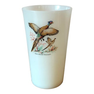 Vintage Federal Glass Ring Necked Pheasant Tumbler For Sale