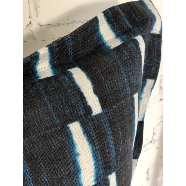 """Blue Pair of 24"""" Indigo Dyed Linen Pillows by Jim Thompson For Sale - Image 8 of 10"""