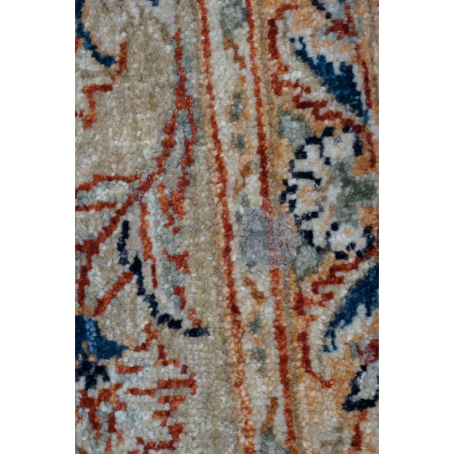 8' X 9' Vintage Wool Peshawar Oriental Rug For Sale - Image 9 of 11