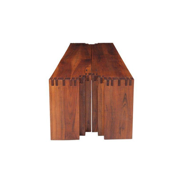 1970s Rivadossi Hardwood Dining or Console Table For Sale - Image 5 of 13