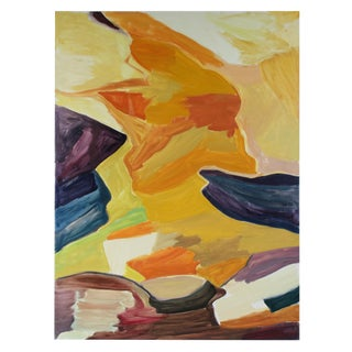 """""""Landscape"""" Abstract Oil Painting, 1986 For Sale"""