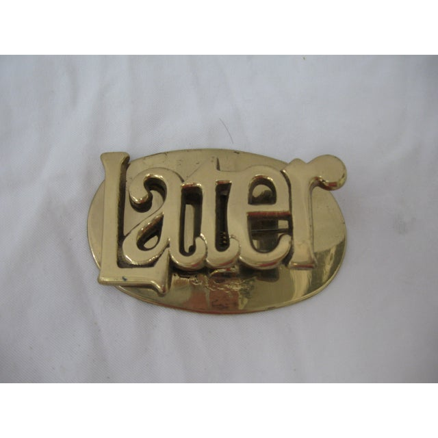 "Brass ""Later"" Clip - Image 2 of 5"