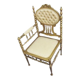 MAitland SMith Style French Louis XV Corner Chair Last Markdown Firm For Sale