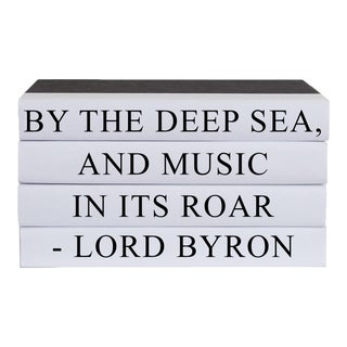 By the Deep Sea Quote Book Stack - 4 Pieces For Sale