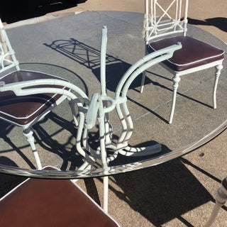 1970s White Phyllis Morris Style Metal Bamboo Dining Furniture-Set of 6 Preview