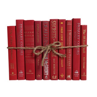 Modern Cherry ColorPak : Decorative Books in Shades of Deep Red For Sale