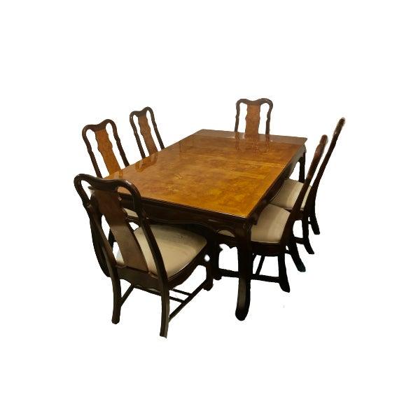 Brown Vintage Vintage Universal Furniture Chinoiserie Dining Set - Set of 10 For Sale - Image 8 of 8