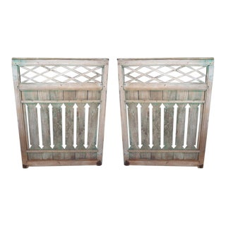 19th Century Wooden Latticework Panels - a Pair For Sale