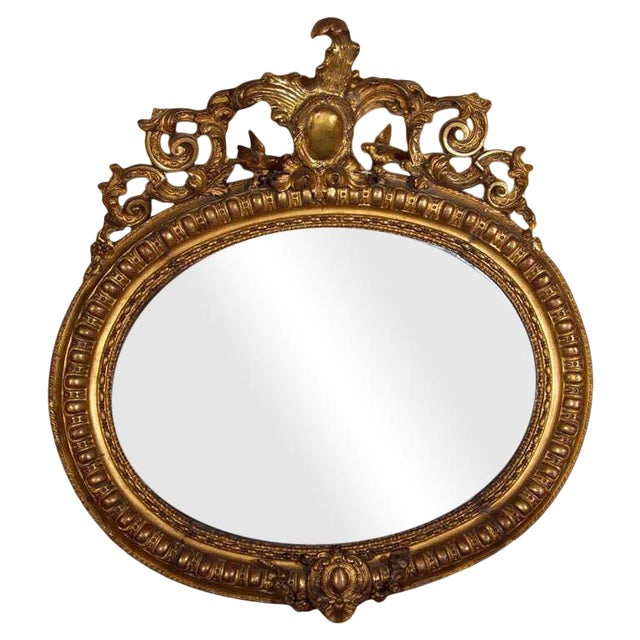 Vintage French Giltwood Mirror For Sale