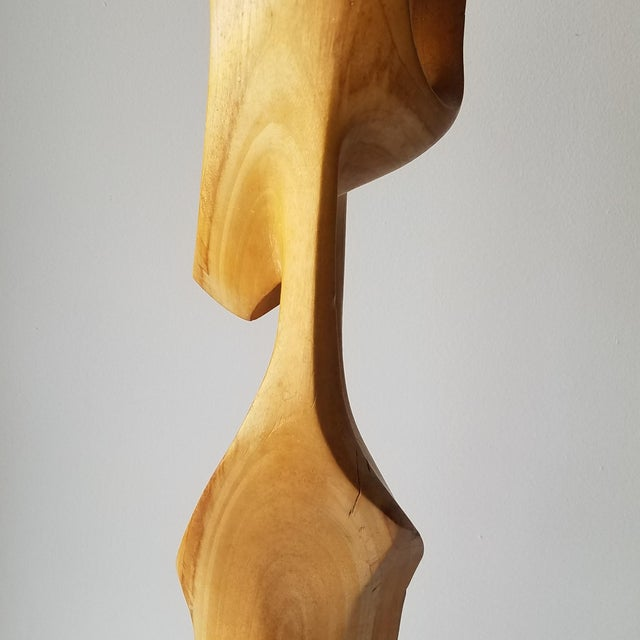 """1971 """"Calming"""" Abstract Wood Sculpture by John Graham For Sale In Seattle - Image 6 of 13"""