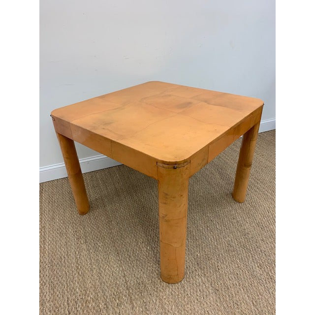 Goatskin Game/Card Table, Attributed to Karl Springer For Sale In Washington DC - Image 6 of 9