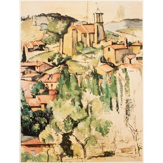"1950s First Edition ""View of Gardanne"" Lithograph by Cezanne For Sale"