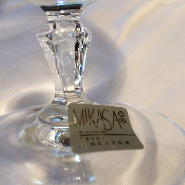 Crystal Gold Rim Brandy Snifters by Mikasa West Germany - a Pair For Sale In Sacramento - Image 6 of 11