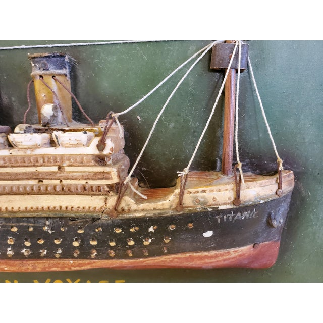 """Original Early 20th Century Mixed Media Art """"Remember the Titanic"""" For Sale In Palm Springs - Image 6 of 13"""