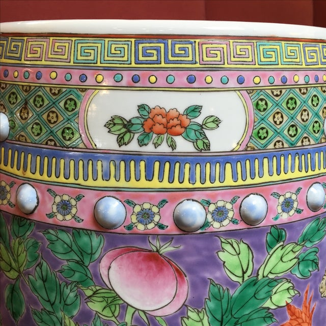 Pastel Colored Chinese Garden Stools - A Pair - Image 5 of 10