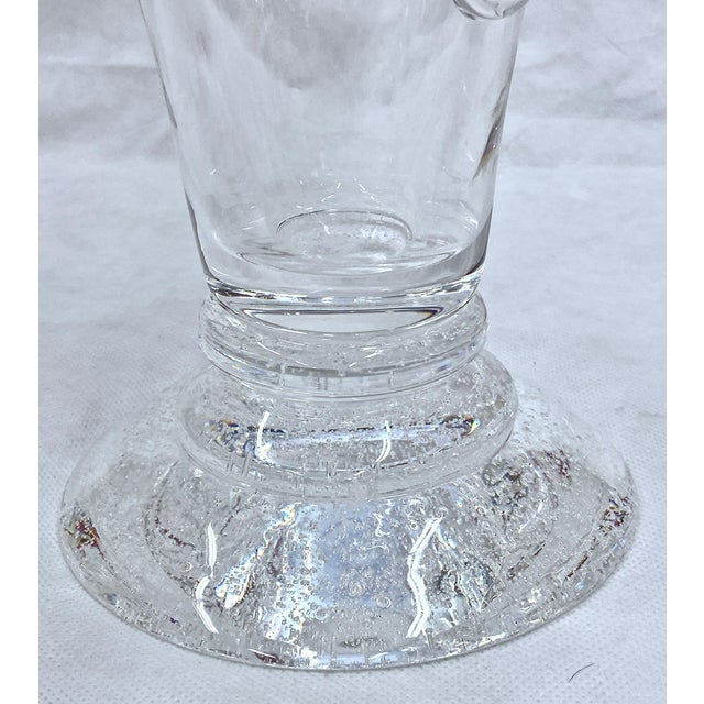 Steuben Swirled Crystal Vase For Sale - Image 9 of 13
