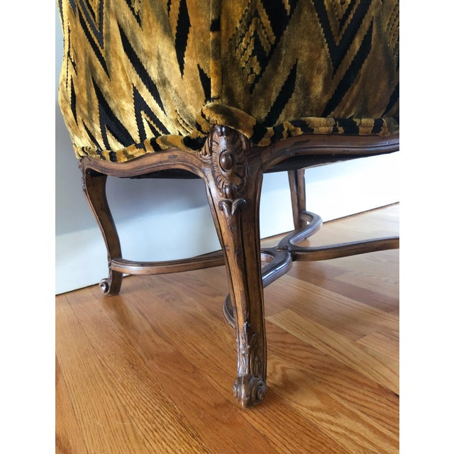 Chevron Wingback Accent Arm Chair - Image 8 of 11